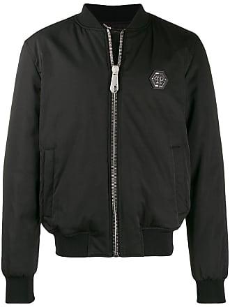 Philipp Plein printed P.L.N. bomber jacket - Black