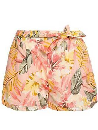 Joie Joie Woman Printed Linen Shorts Peach Size 12