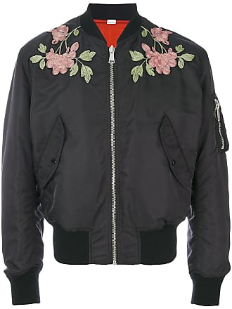 1c59e6373a446 Gucci Black Mens Reversible Nylon And Silk Bomber Jacket - The Webster
