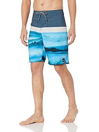 O'Neill Mens 20 Inch Outseam Ultrasuede Swim Boardshort, Ocean Blue, 32