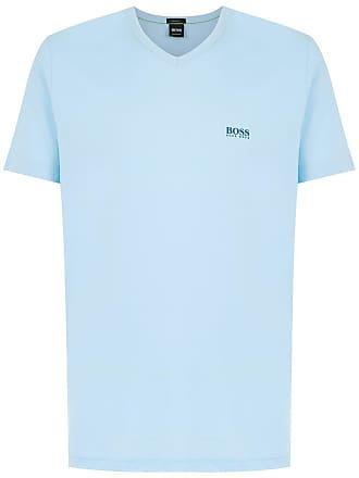 HUGO BOSS T-shirt decote V - Azul