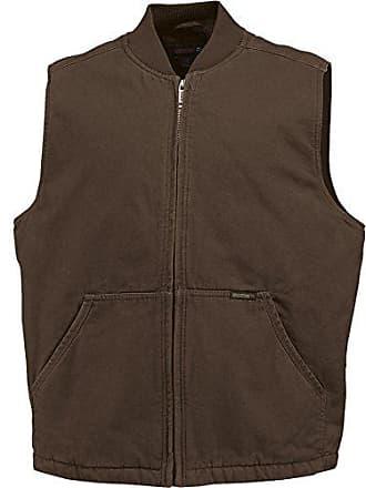 Wolverine Mens Finley Cotton Duck Insulated Vest, Bison, Large