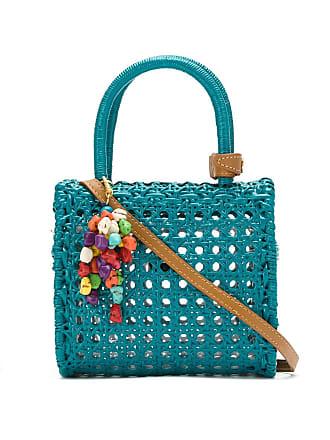 Serpui Bolsa palha com chaveiro - Azul