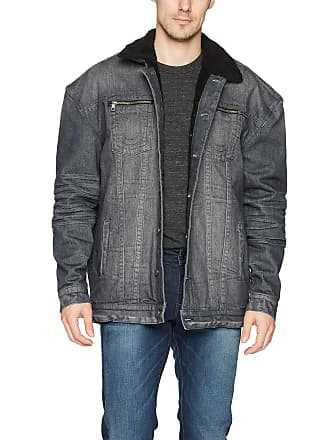 02b927e52 True Religion Mens Turner Sherpa Denim Jacket Gravel XX-Large