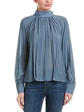 Bcbgmaxazria Womens Back Bow Blouse, Dusk Blue, M