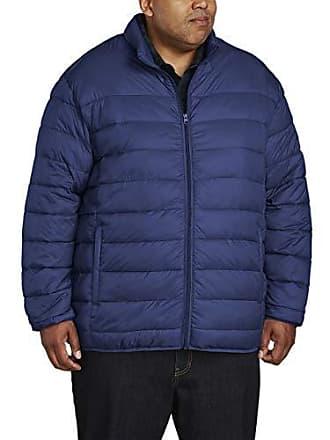 Amazon Essentials Mens Big & Tall Lightweight Water-Resistant Packable Puffer Jacket, Navy, 5X Tall