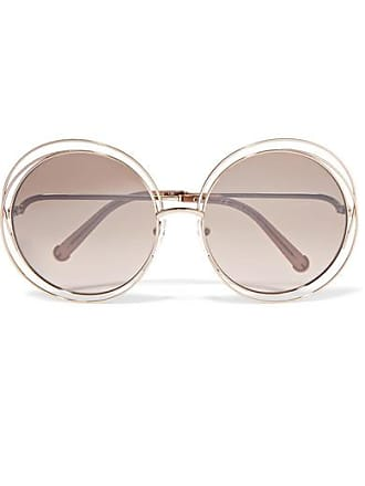 208436908d68 Chloé Carlina Oversized Round-frame Gold-tone Sunglasses - one size