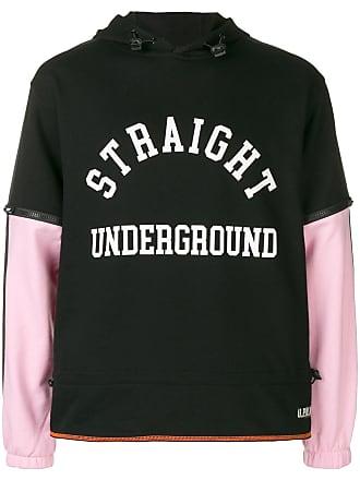 U.P.W.W. Moletom Straight Underground com capuz - Preto