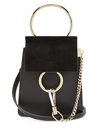 179f7a7a8ed16a Chloé Faye Mini Suede Panel Leather Cross Body Bag - Womens - Black