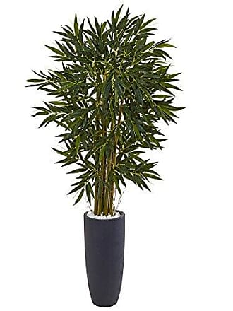 Nearly Natural 6.5 Bamboo Artificial Tree in Cylinder Planter, Green