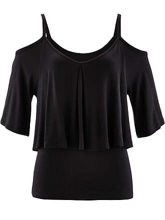 b70856d264f2e0 Bonprix Dames off-shoulder-shirt halve mouw in zwart - bpc selection