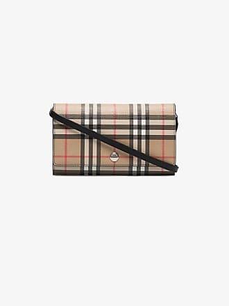 Burberry check e-canvas wallet