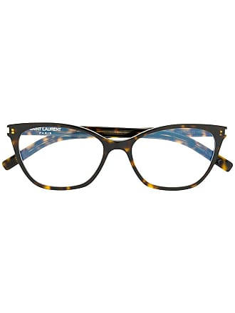 Saint Laurent Eyewear Armação de óculos redonda - Marrom