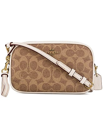 35bc478bfee Coach printed crossbody bag - White