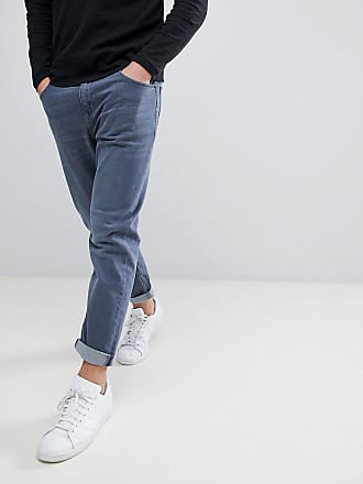 Asos tapered jeans in smokey blue - Blue
