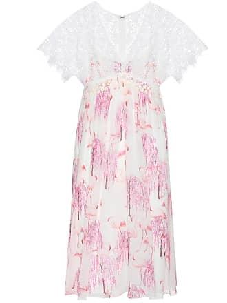 Giambattista Valli Printed silk and lace dress