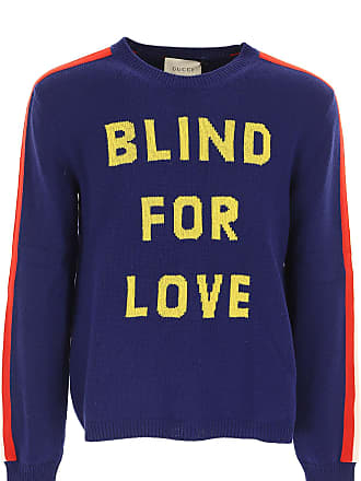 3b718f54 Gucci Sweater for Men Jumper On Sale, Navy Blue, Wool, 2017, XL