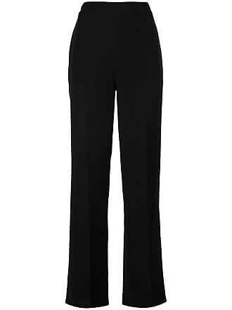 Yigal AzrouËl tissue crepe wide leg trousers - Black