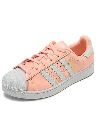 0e90c82b676 adidas Originals Tênis Couro adidas Originals Superstar W Rosa