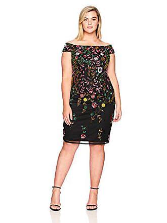 0771fd28bce Adrianna Papell Womens Plus-Size Multi Floral Sheath Plus