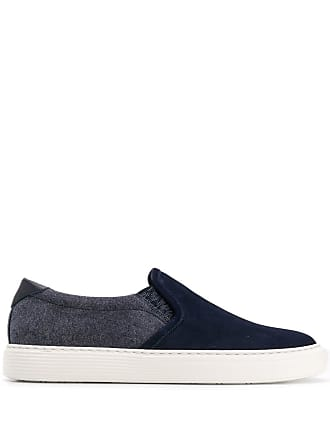 Brunello Cucinelli classic slip-on sneakers - Blue