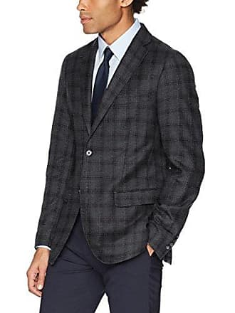 DKNY Mens Slim Fit Blazer, Charcoal, 44 Short