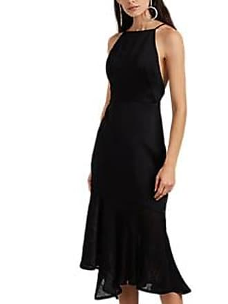 6b82066d0938 Jason Wu Womens Plissé-Detailed Crepe-Back Satin Cocktail Dress - Black  Size 10