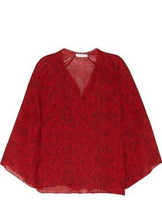 Iro Iro Woman Aga Printed Chiffon Top Red Size 34