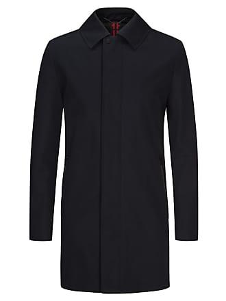 d88f1089663ace HUGO BOSS Eleganter Mantel mit verdecktem Reißverschluss in Schwarz für  Herren