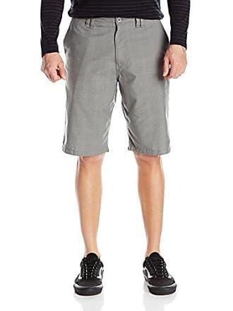 O'Neill Mens 22 Inch Outseam Classic Walk Short, Grey/Delta Plaid, 44