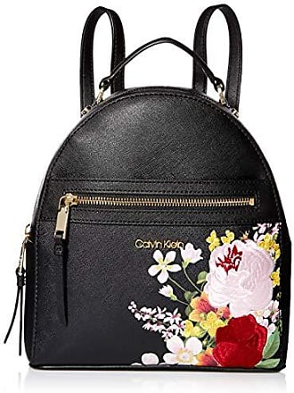 480494834fc Calvin Klein Mercy Saffiano Leather Key Item Backpack, black floral