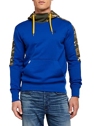 G-Star Mens Meson Camo-Panel Pullover Hoodie