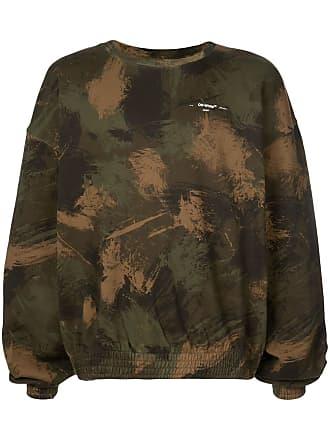 Off-white camouflage logo sweatshirt - Verde