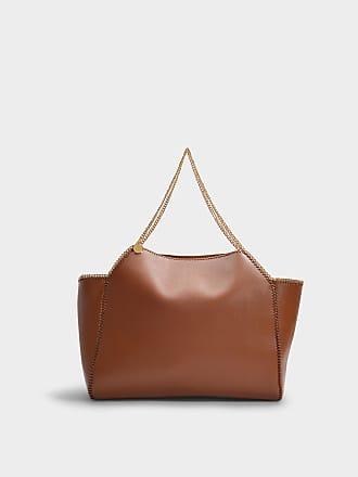 eb2f26ced20a Stella McCartney Falabella Thin Chain Medium Tote in Cinnamon Eco Leather
