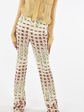 Prada floral-print silk palazzo pants size 40