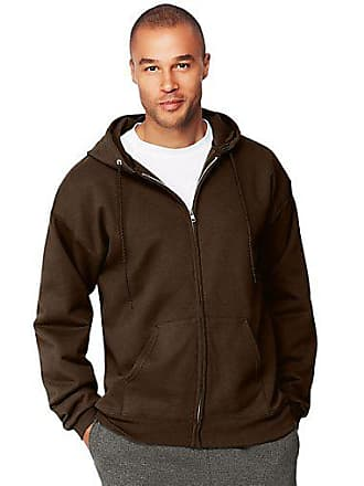 Hanes Mens Ultimate Cotton Heavyweight Full Zip Hoodie Charcoal Heather 2XL
