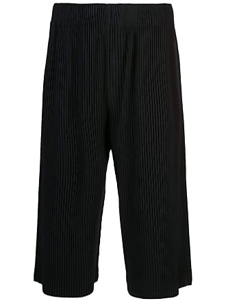 Homme Plissé Issey Miyake may cropped trousers - Black