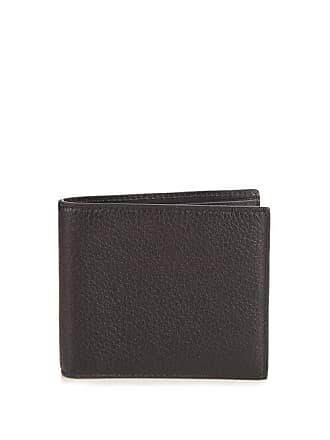 Smythson Burlington Bi Fold Grained Leather Wallet - Mens - Black