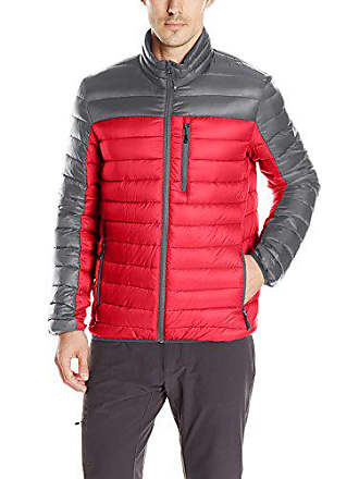 ZeroXposur Mens Relay Packable Sweater Down, Red, M