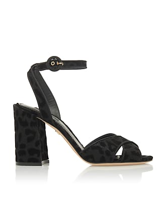 Dolce & Gabbana Black Leopard Faille Sandals