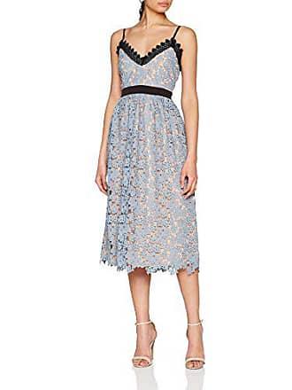 c47d3252cdaa Little Mistress Blue Contrast Lace Cami Midi Dress