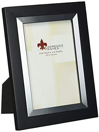 Lawrence Frames Black Wood 4 by 6 with Silver Metal Inner Bezel Picture Frame