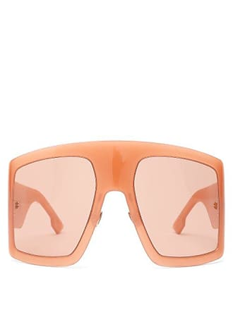 126ae54adcb4 Dior Diorsolight1 Oversized Acetate Sunglasses - Womens - Pink