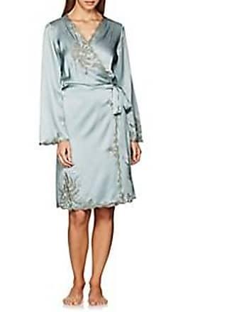 Carine Gilson Womens Lace-Trimmed Silk Short Robe - Lt. Green Size M  8bb4cb29a