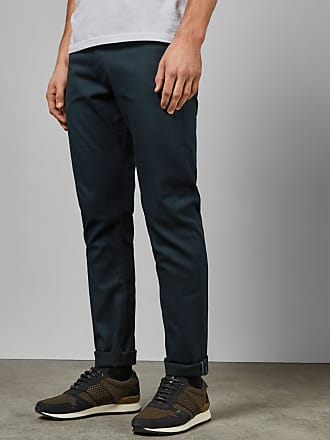 Ted Baker Tailored Straight Leg Jeans in Teal ALFORON, Mens Clothing