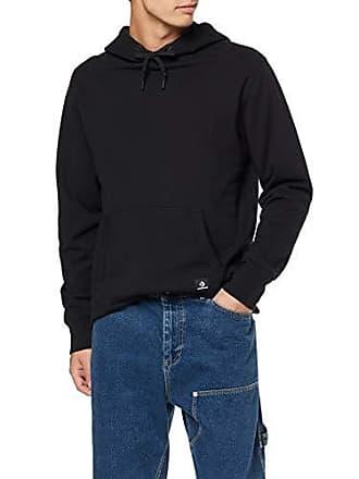 8c13bbfaa9 Converse Essentials Pullover Hoodie, Cappuccio Uomo, Nero (Black 001) Large