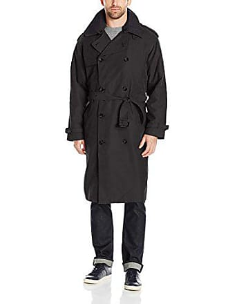 8e541bb60f0f London Fog Mens Double Breasted Belted Iconic Trench Coat