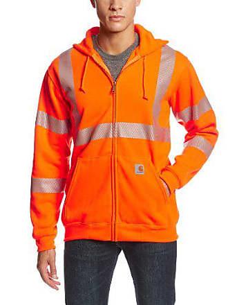Carhartt Work in Progress Mens High Visibility Class 3 Sweatshirt,Brite Orange,Large