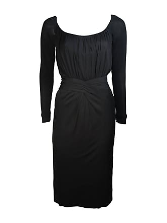 ae16cb0a09a Ceil Chapman Black Silk Crepe Cocktail Dress With Gathers Size 4-6
