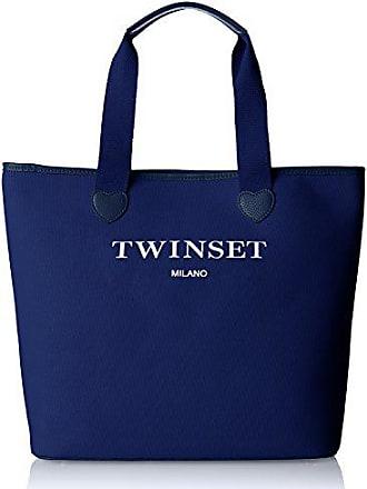 2ab643f071 Twin-Set Twin Set As8pna, Borsa a Spalla Donna, (Blu Scuro)